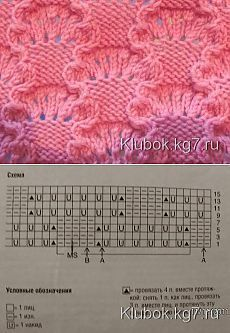 Knitting pattern - # Rope Examples # pattern instruction Crochet is definitely a task Lace Knitting Stitches, Lace Knitting Patterns, Knitting Charts, Loom Patterns, Easy Knitting, Loom Knitting, Knitting Designs, Stitch Patterns, Loom Bands