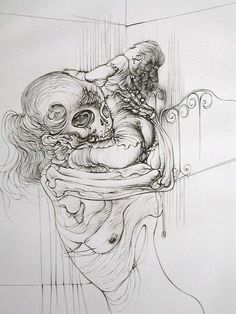 """i was so intrigued by this artist when i visited Musee du Pompidu.. worth checking out but i will warn you, this is one of the """"G-rated"""" sketches. HANS BELLMER."""