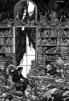 Illustration for Frankenstein — Bernie Wrightson Comic Book Artists, Comic Books Art, Comic Art, Ink Illustrations, Illustration Art, Bernie Wrightson, Norman Rockwell, Ink Art, Art World