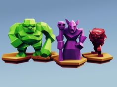 Low Poly Fantasy Tabletop - Horde Advanced Units by Davision3d - Thingiverse