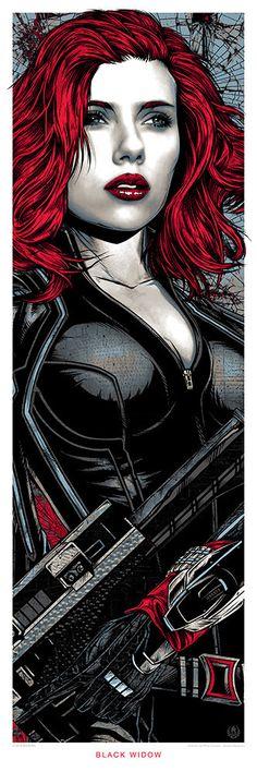 Black Widow || Natasha Romanoff || by Rhys Cooper || 333px x 1000px || #fanart