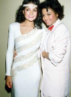 The Jackson sisters (La Toya and Janet Jackson)