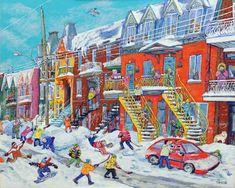 Résultat d'images pour tanobe Art And Illustration, Illustrations And Posters, Pop Art, Cityscape Art, Puzzle Art, Canadian Art, Snow Scenes, Art Moderne, Naive Art