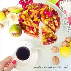 Crostata con fichi e ciliegie fatta in casa da me...sapori di casa...sapori di famiglia