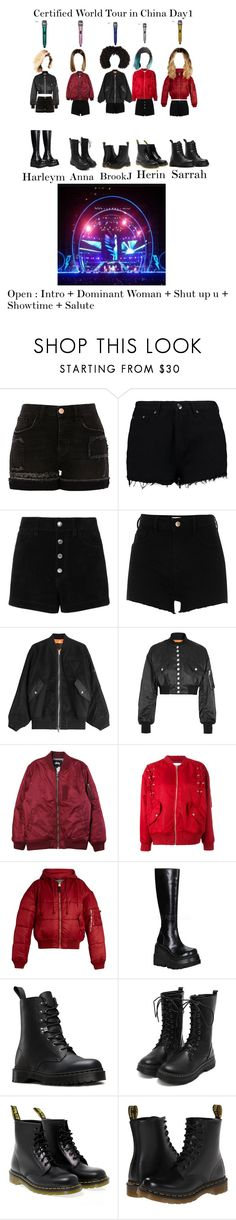 """""""VIBE$ Certified World Tour in China """"part1"""""""" by estherbljk ❤ liked on Polyvore featuring River Island, Boohoo, rag & bone/JEAN, Alexander Wang, Stussy, IRO, Vetements, Demonia and Dr. Martens"""
