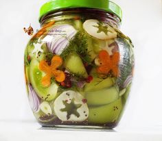 Pickles, Snow Globes, Cucumber, Canning, Recipes, Jars, Romanian Food, Salads, Rezepte