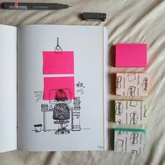 Colorful Post-It Windows by @emilywip Which is your favorite?