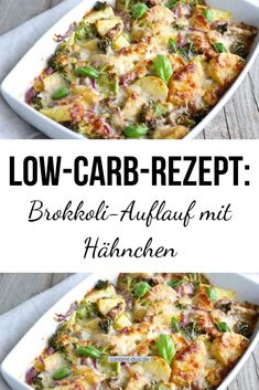 Low carb recipe: broccoli bake with chicken-Low-Carb-Rezept: Brokkoli-Auflauf mit Hähnchen Broccoli-Chicken Bake with moderate calories, a lot of protein, a lot of fat and hardly any carbohydrates – perfect for a low-carb diet. Healthy Chicken Recipes, Low Carb Recipes, Poulet Hasselback, Law Carb, Broccoli Bake, Broccoli Chicken, Chicken Broccoli Casserole, Diy Y Manualidades, Salud Natural