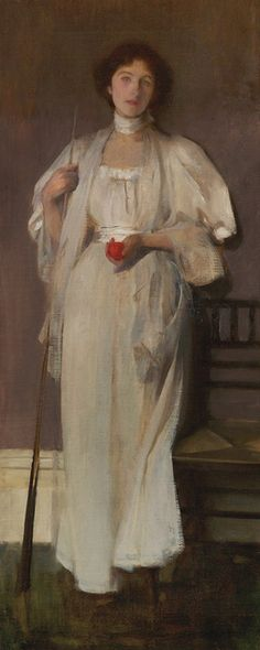 .:.James Jebusa Shannon, Spot Red, 1896.  Oil on canvas, 49 1/2 x 20 1/4 in.