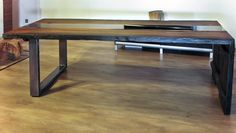 coffee table with bog oak 1600 years one of a kind#handmade#