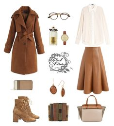 """caramel world"" by fixedpixie ❤ liked on Polyvore featuring Molton Brown, Joseph, Chicwish, Christian Dior, Lola Cruz, Kenneth Cole, Furla, Marc Jacobs, skirt and brown"