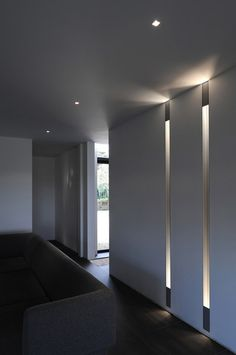 Soft and elegant ambient lighting in a contemporary interior _
