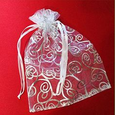 Sheer Organza Pouches are very popular packaging option for Party Favors. They are great for presenting gifts for any events and celebration. Colorful candies, chocolate bars, almonds, lavender buds, parfume bottles are just a few ideas, the list goes on ...