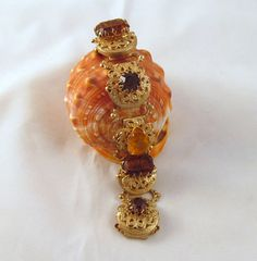 Vintage Chunky Brown & Yellow Rhinestone by GrapenutGlitzJewelry, $23.00