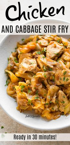 Isagenix, Leftover Chicken Recipes, Recipe For Chicken And Cabbage, Baby Cabbage Recipe, Cabbage Low Carb Recipes, Recipes With Cabbage, Cabbage Meals, Chicken Breakfast Recipes, Chicken Sausage Recipes