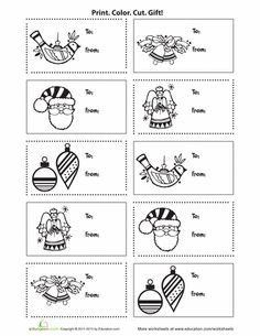 Color your own christmas gift tags printable christmas gift tags print out some of these christmas gift tags to keep track of who gets what present negle Choice Image