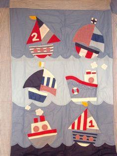 Sailboat cot quilt