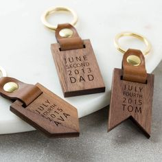 Personalised Luxury Leather Wood Keyring luxury beauty products - http://amzn.to/2hu7dbB