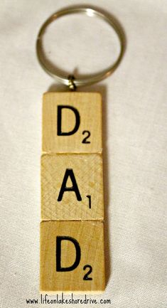 Scrabble Tile Key Chain Life on Lakeshore Drive