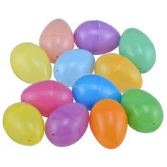 Easter Themed Plastic Egg Containers Brand New in Packaging 24 count