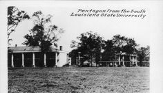 Early LSU postcards Pentagon from the South, LSU
