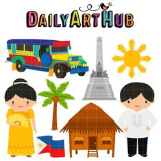 More Fun in the Philippines Clip Art Set – Daily Art Hub – Free Clip Art Everyday Cute Wallpaper Backgrounds, Cute Wallpapers, Filipino Girl, Bahay Kubo, Jeepney, Filipino Culture, Art Hub, How To Make Cupcakes, Shell Crafts