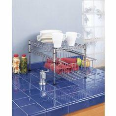 Amazon.com - Seville Classics SHE05102ZB Ultra Zinc 11.5 by 17.5 by 10-Inch Basket/Shelf Organizer, Mini