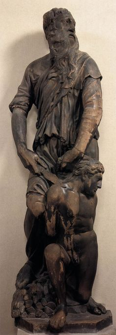 DONATELLO The Sacrifice of Isaac c. 1418 Marble, height 191 cm Museo dell'Opera del Duomo, Florence