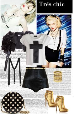 """madonna style 80"" by dayanchanel ❤ liked on Polyvore"