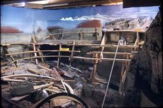 Devil's Gulch on the Gorre & Daphetid under construction in 1956. Note the mirror mid-photo.  Courtesy of Jeffery Witt.