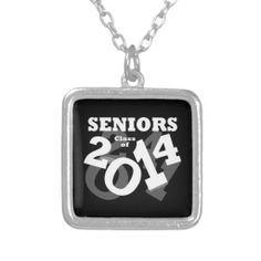 Black/White Fun Class of 2014 Seniors Necklaces #graduation #classof2014