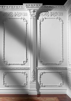 Decorative mouldings and architectural ornamentation by Pearlworks. Resin casted trims and flexible molding for interior and exterior design and construction, fine architectural wood carvings. Decor, Luxury Living Room, Ceiling Design, Luxury Homes Interior, Wall Molding, Wall Design, Wall Paneling, Ceiling Design Bedroom, Luxury House Interior Design