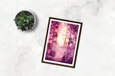 This atmospheric forest path painting will add the right amount of color and intrigue to your decor! There are a variety of colors and styles in this series, and they all look great alone or grouped together! Available in sizes 4x 6, 5x 7, and 8x 10.  Each print comes MATTED in a simple white mat. Watercolor Print, Watercolor Paper, Watercolor Paintings, Forest Path, Art Prints For Sale, Free Paper, Dungeons And Dragons, Find Art, Decorating Your Home