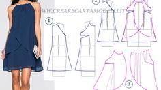 Modellistica di un abito di chiffon