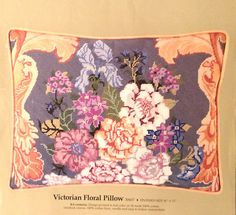 Something Special Gold Scrolls Victorian Floral Pillow Needlepoint Kit | eBay