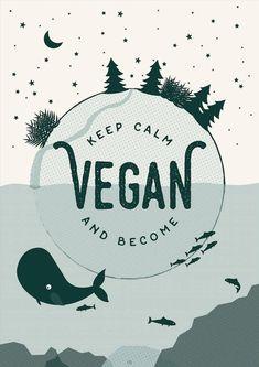 Vegan Print - Vegan gift - Go Vegan - Vegan vibes - Vegan Wall Art Posters Uk, Poster Prints, Wallpaper Bonitos, Vegan Quotes, Sell My Art, Vegan Gifts, Vegan Animals, Activist Art, Indie