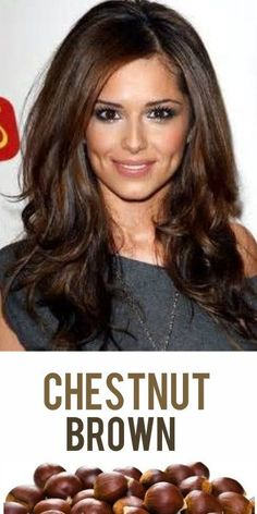 2014 Hair Trend: Chestnut Brown! Add some walnut highights for dimension and you've got one amazing brown hair color! #hairtrends #brownhair #haircolor