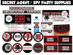 Spy Party Games - Secret Agent Birthday Theme!  Like the mission complete- great for the last evening of VBS