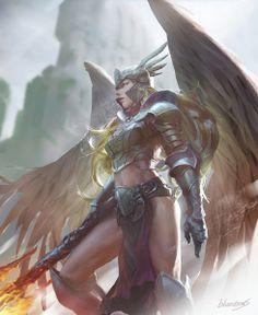 Valkyrie warrior by blueitems