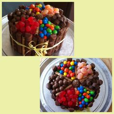 Made from scratch the black magic chocolate candy cake! For the boyfriend