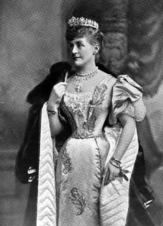 A diamond belle epoque tiara, worn by the Countess of Cadogan, Lady Beatrice Craven, circa 1890. Featuring a series of nine floral motifs, set on a band of diamonds.