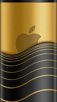 Golden Looks is an #iPhone6 #wallpaper featuring #golden apple logo on an expensive looking background