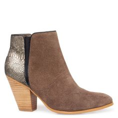 MISS SOFIE KARAThe contrasting combination of this leather and suede or snake print ankle boot makes it a covetable classic. With a chunky s...