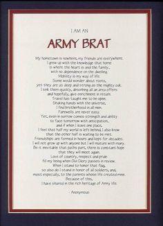 Army brat @Jennifer Parker