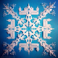 Frozen inspired cut out Snowflake with Arendelle, Marshmallow, Elsa www.kitcameo.com
