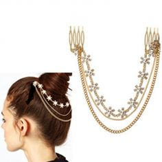 USD3.99Fashion Gold Metal Hairpin   For my Lao outfit