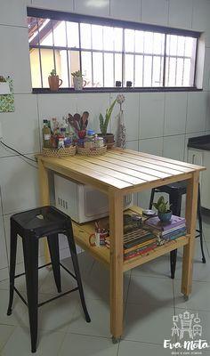 Decor e Viver Criativo Apartment Goals, Dining Table, Minimalist, Future, Storage, House, Home Decor, Decorating Kitchen, Kitchen Organization