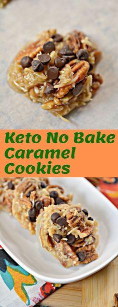 Keto No Bake Caramel Cookies - Keto Brownies - Ideas of Keto Brownies - Keto No Bake Caramel Cookies Low Carb Sweets, Low Carb Desserts, Low Carb Recipes, Protein Recipes, Health Desserts, Easy Recipes, Galletas Keto, Keto Friendly Chocolate, Caramel Cookies