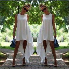 45 tl asimetrik cepli penye beyaz elbise ❤dokuma penye kumaş ✔ş m l beden  Model kodu=1685