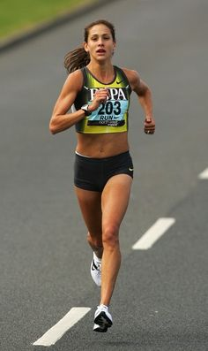 Kara Goucher. My running icon. This chick is going to win Boston one day. Soon.